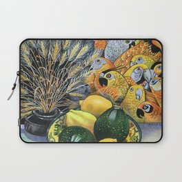 Yellow Parrots Laptop Sleeve