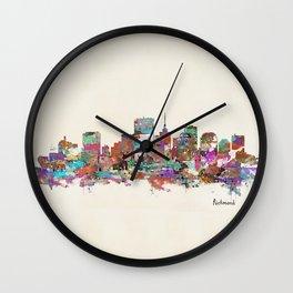 Richmond Virginia skyline  Wall Clock