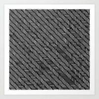 herringbone Art Prints featuring Herringbone by Sharon H.