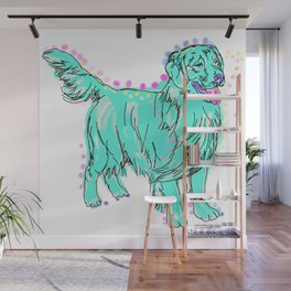 The happy GOLDEN RETRIEVER Love of My Life - your Golden dog keeps you smiling! Wall Mural