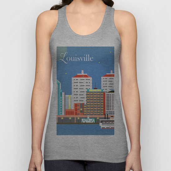 Louisville, Kentucky - Skyline Illustration by Loose Petals by loosepetals
