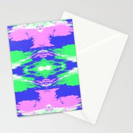 Hisaei - Abstract Colorful Batik Butterfly Mandala Art Stationery Cards