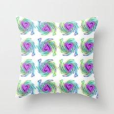 Colorful Heart Design Throw Pillow