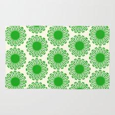 vintage flowers green Rug
