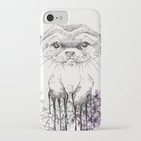 otter iPhone & iPod Cases featuring Otter by RiRi.in.Berlin