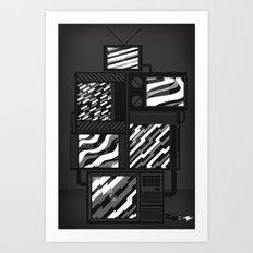 SSSTATIC Redux Art Print