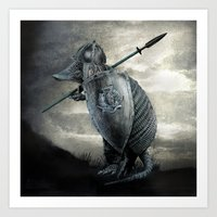 eric fan Art Prints featuring Armadillo by Eric Fan & Viviana Gonzalez by Viviana Gonzalez