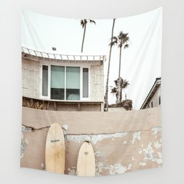 San Diego Surfing Wall Tapestry