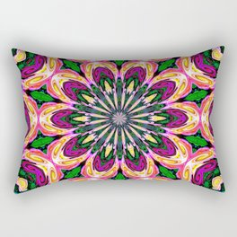 Abstract colorful Heart Flower Seamless Pattern Vector illustration Rectangular Pillow