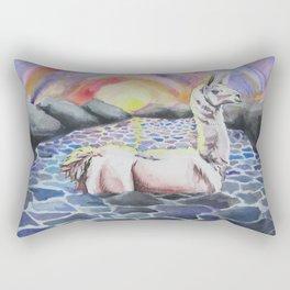 Llama Ness Monster Rectangular Pillow