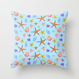 Sea Treasure Throw Pillow
