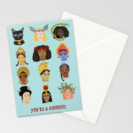 Goddesses Around the World Stationery Cards