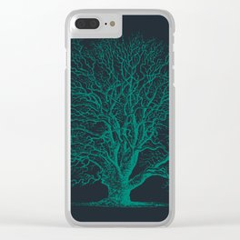 Antique Tree Illustration III Clear iPhone Case