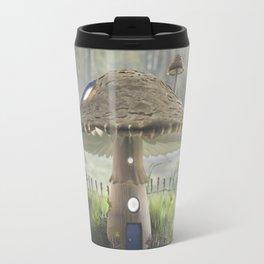 Mushroom House on a Misty Morning Travel Mug