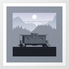 The Lonely Caboose Art Print