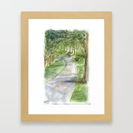 Afternoon in Riverway Framed Art Print