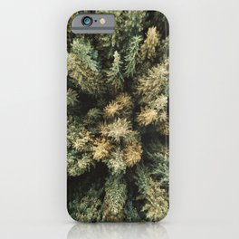 pine tree aerial view iPhone Case