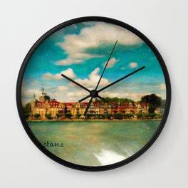 Konstanz Cityscape Wall Clock