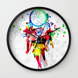 Dreamcatcher Grunge Wall Clock