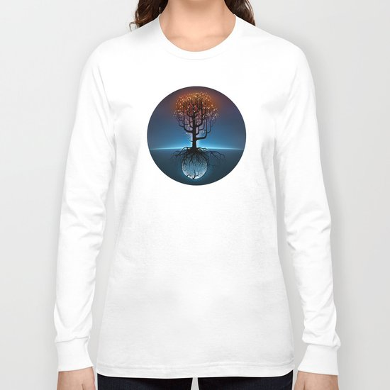 Tree, Candles, and the Moon Long Sleeve T-shirt
