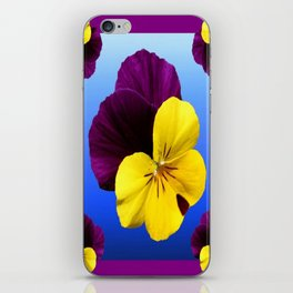 Decorative Shaded Blur Yellow-Purple Violas Art iPhone Skin