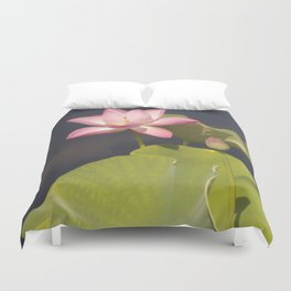 Pink Lotus by Teresa Thompson Duvet Cover