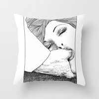 apollonia Throw Pillows featuring asc 28 - L'invitation by From Apollonia with Love