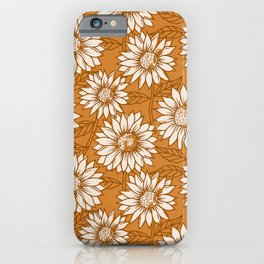 Copper Sunflowers iPhone Case