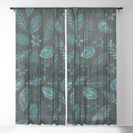 Floral #২ Sheer Curtain