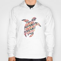 tortoise Hoodies featuring The Pattern Tortoise by VessDSign