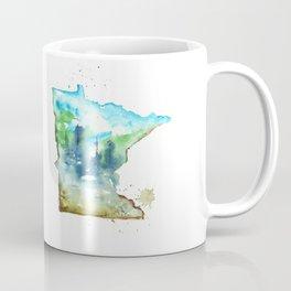 Minnesota Watercolor Map - State Map Art - Watercolor Maps Coffee Mug