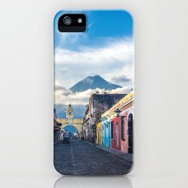 Sunny Day in Antigua, Guatemala iPhone Case