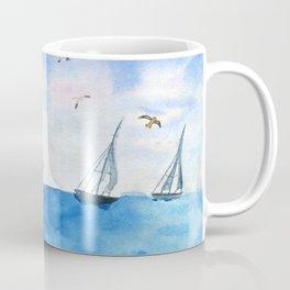 Boat trip on the yacht Coffee Mug