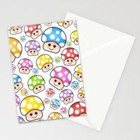 Iddy Diddy Mushrooms  Stationery Cards