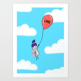 Love is Up Above Art Print