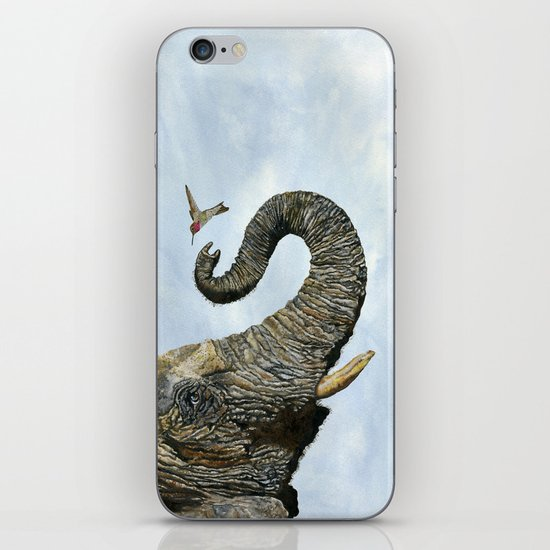 Elephant Cyril And Hummingbird Ayre iPhone & iPod Skin