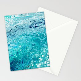 The shape of the water Stationery Cards