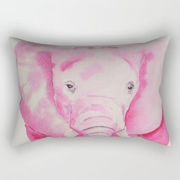 Fuchsia Elephant Rectangular Pillow