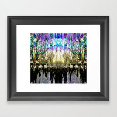 Runs amok mindfully behind luxury and soothsayers. Framed Art Print