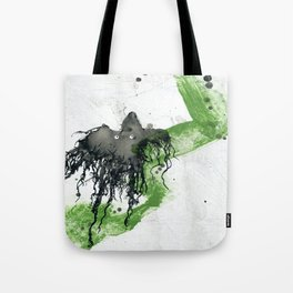 Ink monster- green Tote Bag