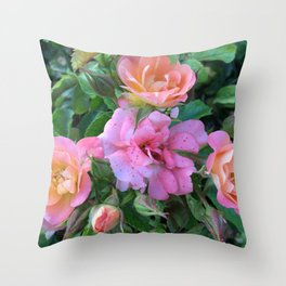 Speckled Pink Throw Pillow