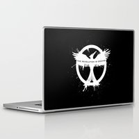mockingjay Laptop & iPad Skins featuring MOCKINGJAY by Beka