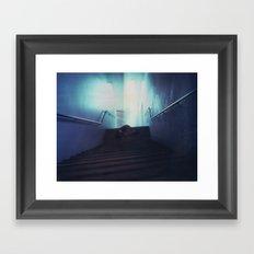 Federation Stairs Polaroid Framed Art Print