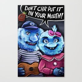 Oral Healthcare Puppets Canvas Print