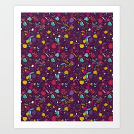 purple seeds Art Print