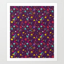 purple seeds Art Print