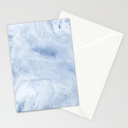 Yasuko - spilled ink japanese monoprint marble paper cell phone case with marble pattern blue pastel Stationery Cards