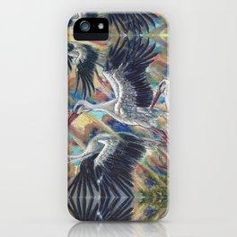White Storks at Sunrise iPhone Case