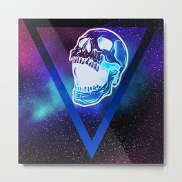 Nebula Skull Metal Print