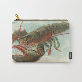 Nautical steampunk vintage lobster antique book plate drawing illustration art print Carry-All Pouch